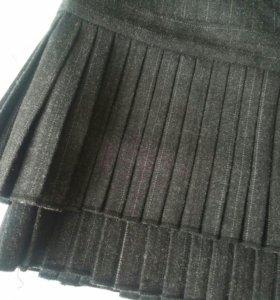 Юбка с плиссировкой размер 44