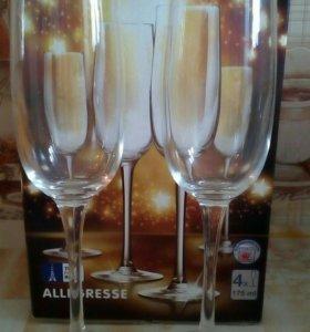 Бокалы для шампанского 4 шт.