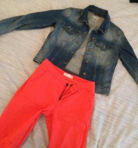 Джинсовая куртка и штаны