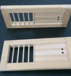 Вентиляционная решетка с задвижкой для бани