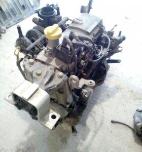Двигатель и коробка на рено логан 1.4