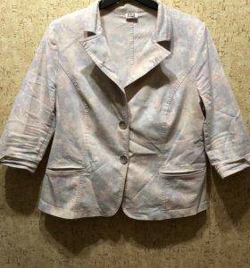 Женский пиджак летний размер 56