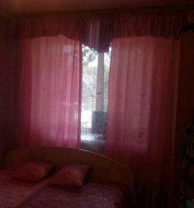 Набор шторы, тюль, ламбрикен, покрывало и навалочк