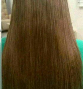 Натуральные волосы после капсульного наращивания