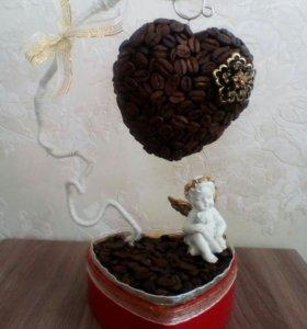 Кофейный топиарий,подарок