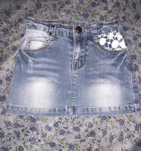 Юбка джинсовая на девочку