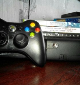 Xbox 360 500гб + 3 диска(5 игр)