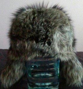Шапка зимняя, б/у (натуральный мех)