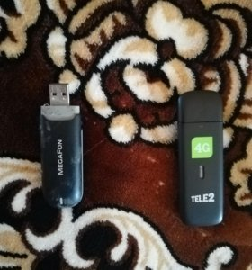 3G модем мегафон и 3G/4G теле 2 модем