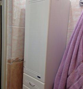 Шкаф для ванной с корзиной для белья