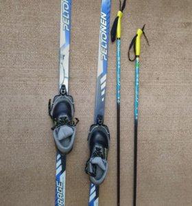 Лыжи детские, пластиковые в комплекте