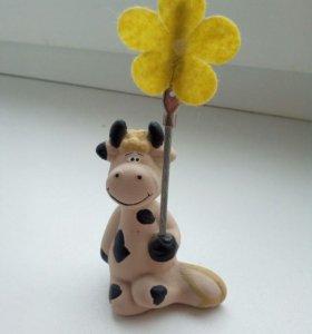 Держатель для фото в виде коровки