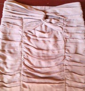 Шелковая мини-юбка H&M