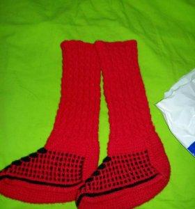 Новые вязаные носки 39-40р
