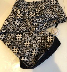 Шапка шарф 100% шерсть