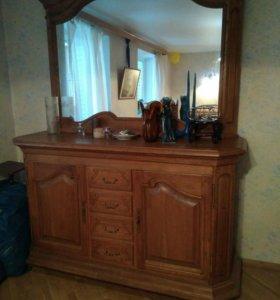 СРОЧНО!!Дубовая мебель для гостиной