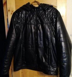 Куртка кожзам с отстегивающимся утеплителем