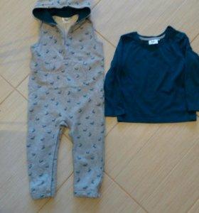 Новый комплект одежды комбинезон+свитшот р.98