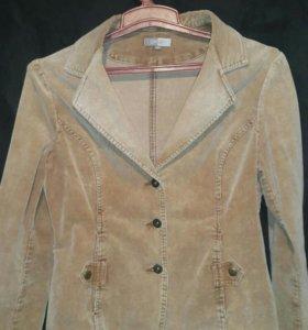 вельветовый пиджак кремовый