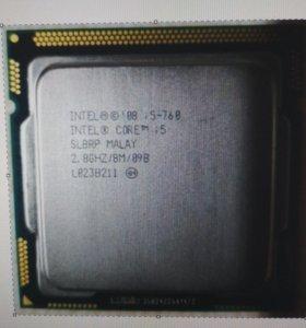 Процессор 4 ядра Intel Core i5-760 2,8GHz