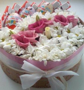 Цветы с киндерами