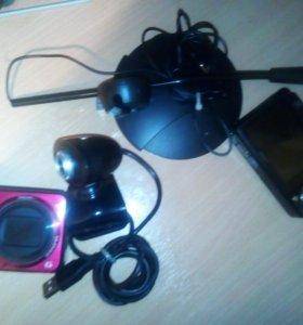 Продам: микрофон, веб-камеру и 2 фотоаппарата.