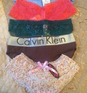Новые Трусики Calvin Klein, Sela, Gloria Jeans