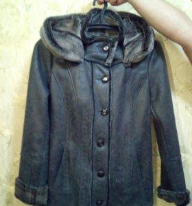 Новая демисезонная куртка-дубленка женская