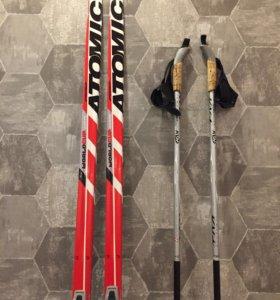 Лыжи и ботинки беговые