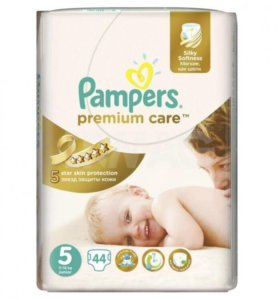 Подгузники Pampers premium care 5 (11-18 кг)