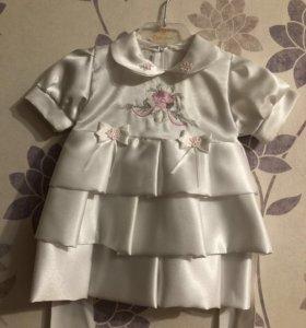 Атласное платье детское