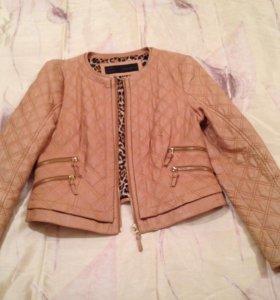 Кожаная куртка Zara 46 р