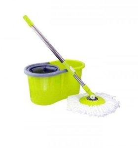 Швабра и ведро с системой mini spin mop