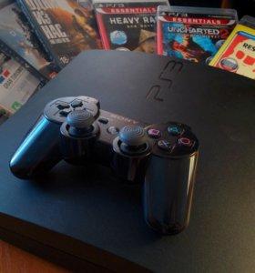 Sony PlayStation 3 Slim (PS3) 160 GB + 11 игр