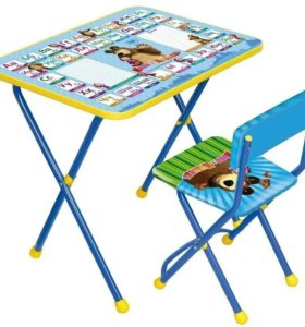 Детский стол и стул в коробке новый