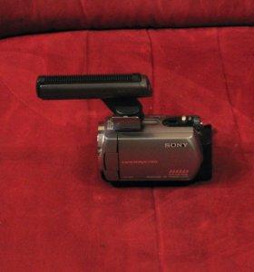 Видеокамера SONY DCR-SR62E + направленный микрофон