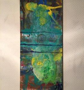 Холст, масло, лак, картина, абстракция