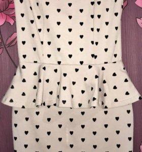 Красивое платье с баской 🌸