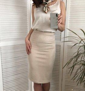 Замшевая новая юбка