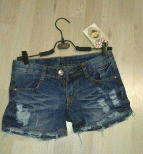 Шорты джинс новые