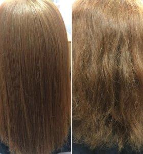 Кератиновое выпрямление волос, ботокс,нанопластика