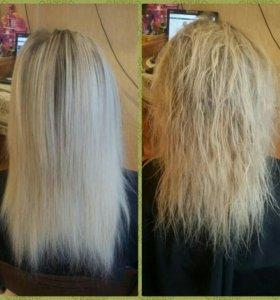 Ботокс для волос, кератиновое выпрямление волос