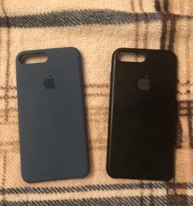 Оригинальный силиконовый чехол на iPhone 7+ и 8+