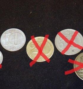 Монеты Чехословакии, доставка, почта