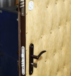 простая стальная утеплённая дверь прямо с завода