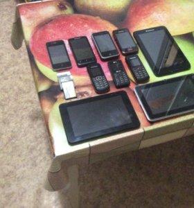 Телефоны и планшеты на запчасти