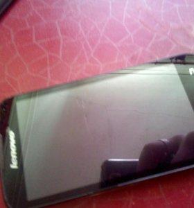 Продаю на запчасти Lenovo A516 экран разбитый.