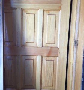 Продаются две входные двери( железная и деревянная