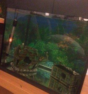 Акрариум с рыбками 75л
