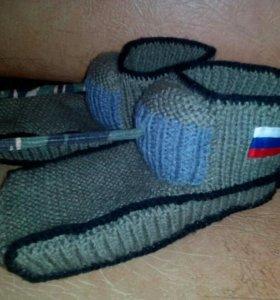 Танки- носки. Ручная работа.